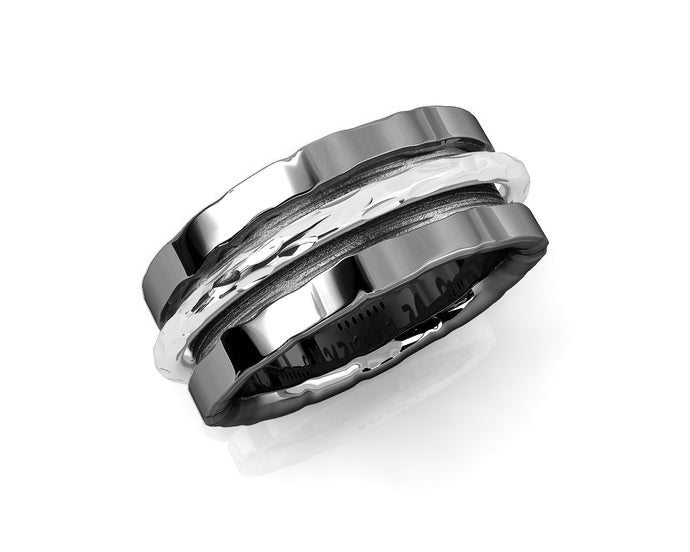 Ring Black Rhodium Plated for Girls 'Shadow Never Let Go '