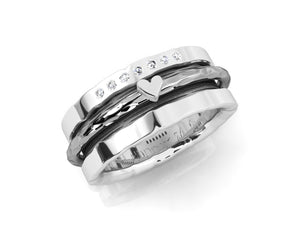 Ladies' Ring White Rhodium Plated 'Silver Sweetheart '