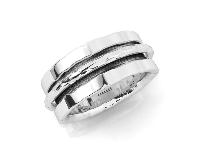 Ring Rhodium White Plated for Her 'Silver Never Let Go '