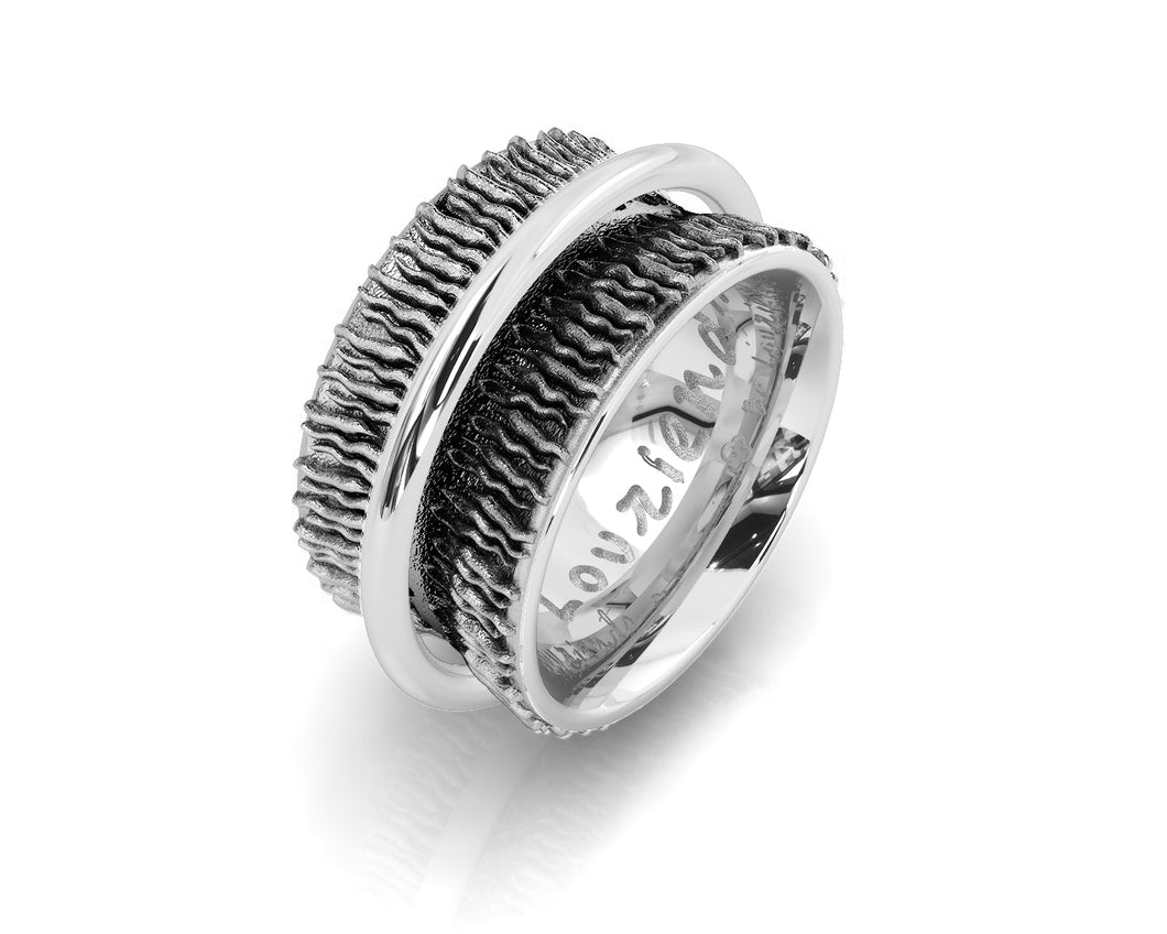 Ring for Her Rhodium White Plated 'Shadow Highlight '