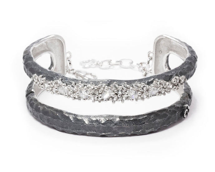 Bracelet White Rhodium Plated for Ladies 'Moon Frostbite '