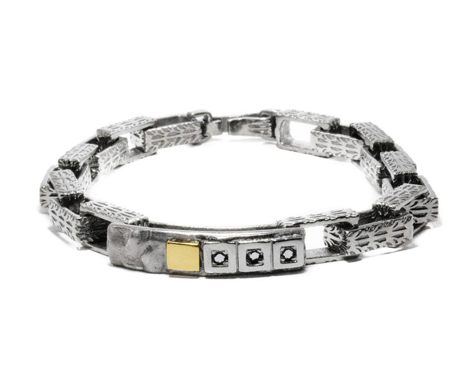Core Magma Forge main view | White Gold Bracelet for Men | Kukka Jewelry