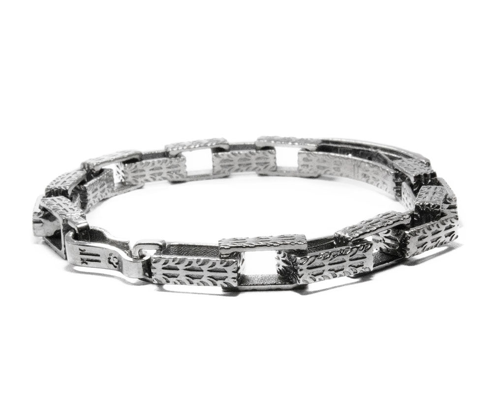 White Rhodium Bracelet 'Core Magma Forge ' for Male