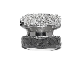 Ring for Her | Moon Frostbite main view | White Rhodium | Kukka Jewelry""