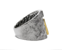 Core Magma Maximum right view | White Rhodium Silver Plated Ring for Guys | Kukka Jewelry
