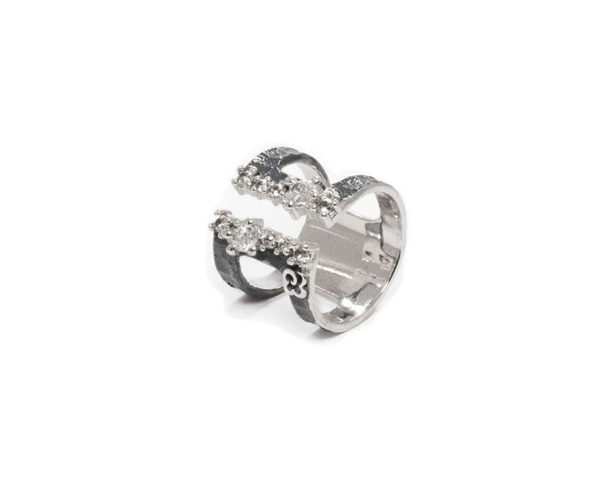 White Gold Plated Ring 'Moonbeam ' for Women