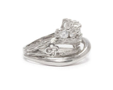 Ring for Ladies | Sweet Vanilla Crown rifht view | White Rhodium Sterling Silver Plated | Kukka Jewelry""