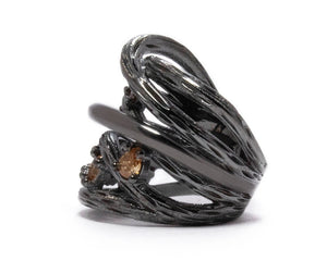 Bourbon Vanilla Seduction left view | Women's Ring | Kukka Jewelry