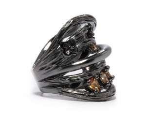 Bourbon Vanilla Seduction right view | Women's Ring | Kukka Jewelry