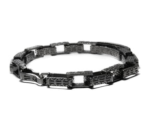 Blaze Magma Forge second view | Black Gold Bracelet for Men | Kukka Jewelry