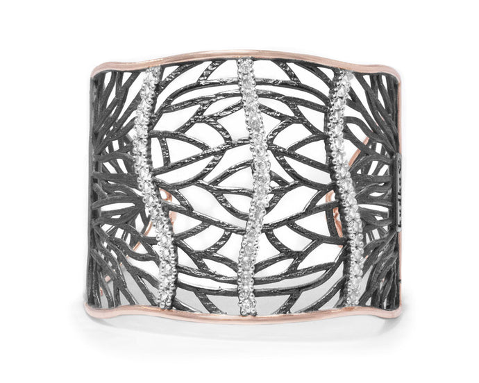 Cuff for Ladies | with Pink Gold | Kukka Jewelry