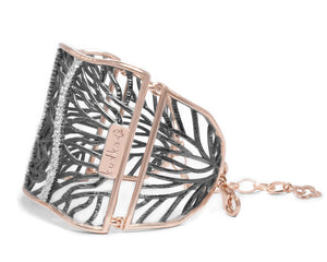 Women's Cuff | Woods River side view | with Pink Gold | Kukka Jewelry