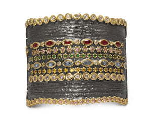 Thai Splash Shadow Majesty front view | Women's Cuff | Kukka Jewelry