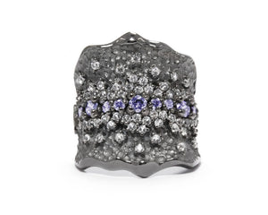 Women's Ring Black Rhodium Plated 'Pacific Royale '