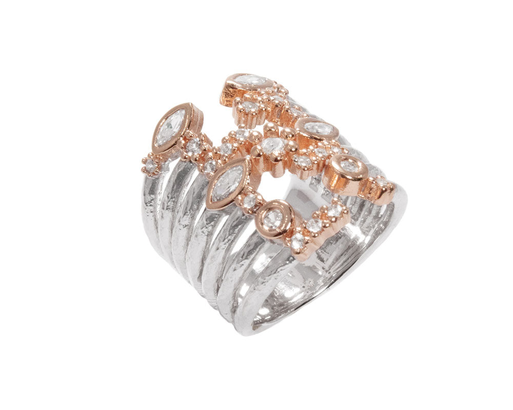 Women's 'Thai Rose Gold Captivate ' Pink Gold Plated Ring