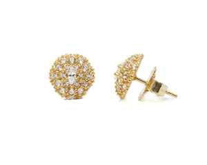 Thai Gold Pollen main view | Women's Studs | Kukka Jewelry