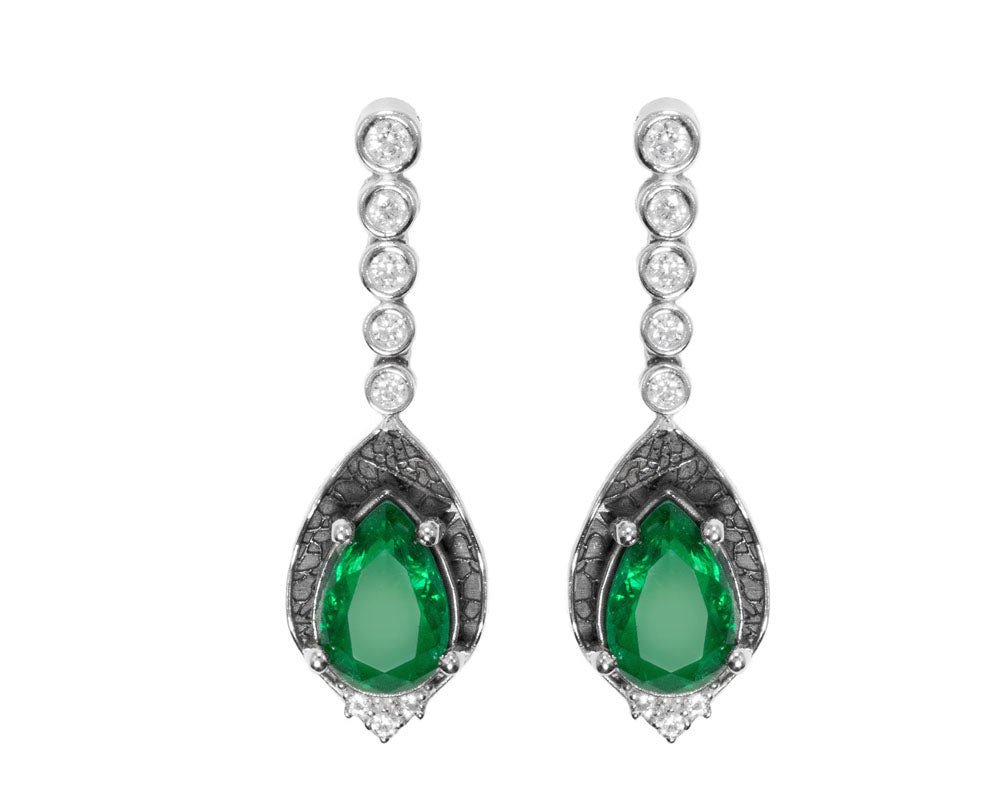 Leaves Green main view | Women's Earrings | Kukka Jewelry