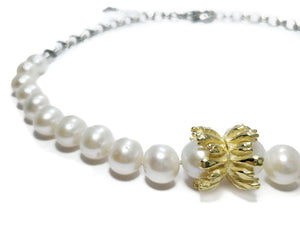 Alma Perla Yellow zoom front | Women's Necklace | Kukka Jewelry