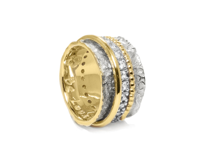 Ring for Women | Gold Intimacy main view | Yellow Gold Plated | Kukka Jewelry