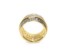 Ring for Women | Gold Intimacy front view | Yellow Gold Plated | Kukka Jewelry""