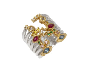 Ring Yellow Gold Plated for Girls 'Thai Splash Captivate '