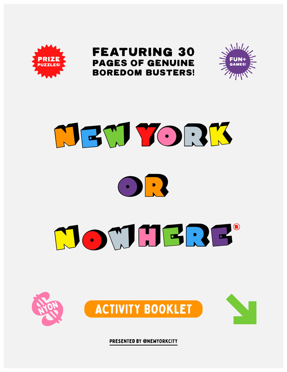 NYON® Activity Book (Free Digital Download) - New York or Nowhere® - NYON® by Knowlita