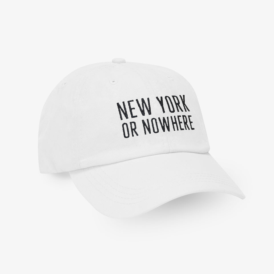"NYON® ""Classic"" Dad Hat - White - New York or Nowhere® - NYON® by Knowlita"