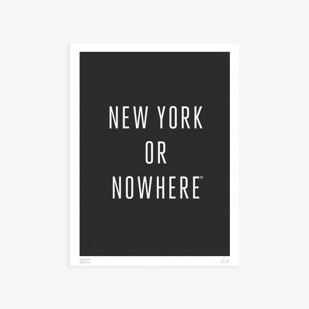 "NYON® ""Classic"" Print - Black/White - New York or Nowhere® - NYON® by Knowlita"