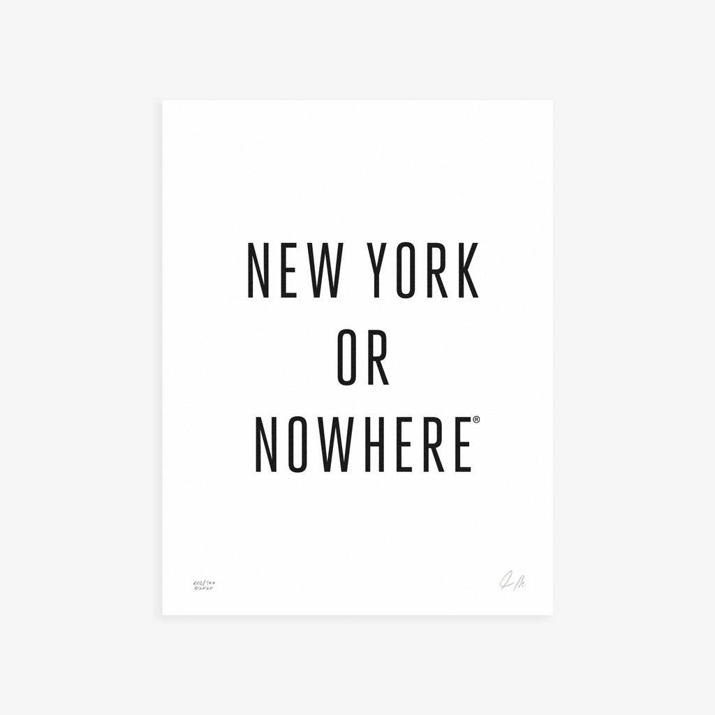 "NYON® ""Classic"" Print - White/Black - New York or Nowhere® - NYON® by Knowlita"