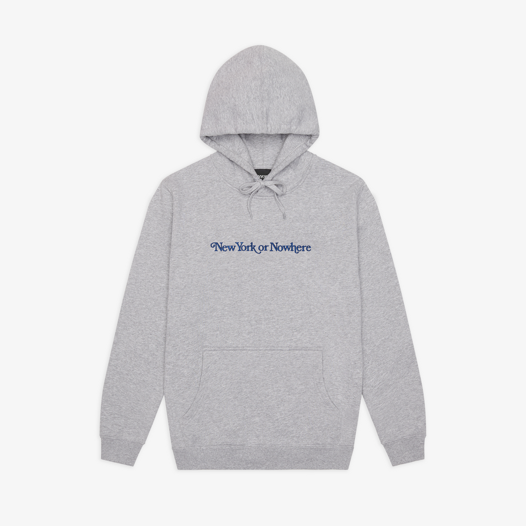 "NYON® ""Crosby"" Deluxe Hoodie - Heather Grey - New York or Nowhere®"