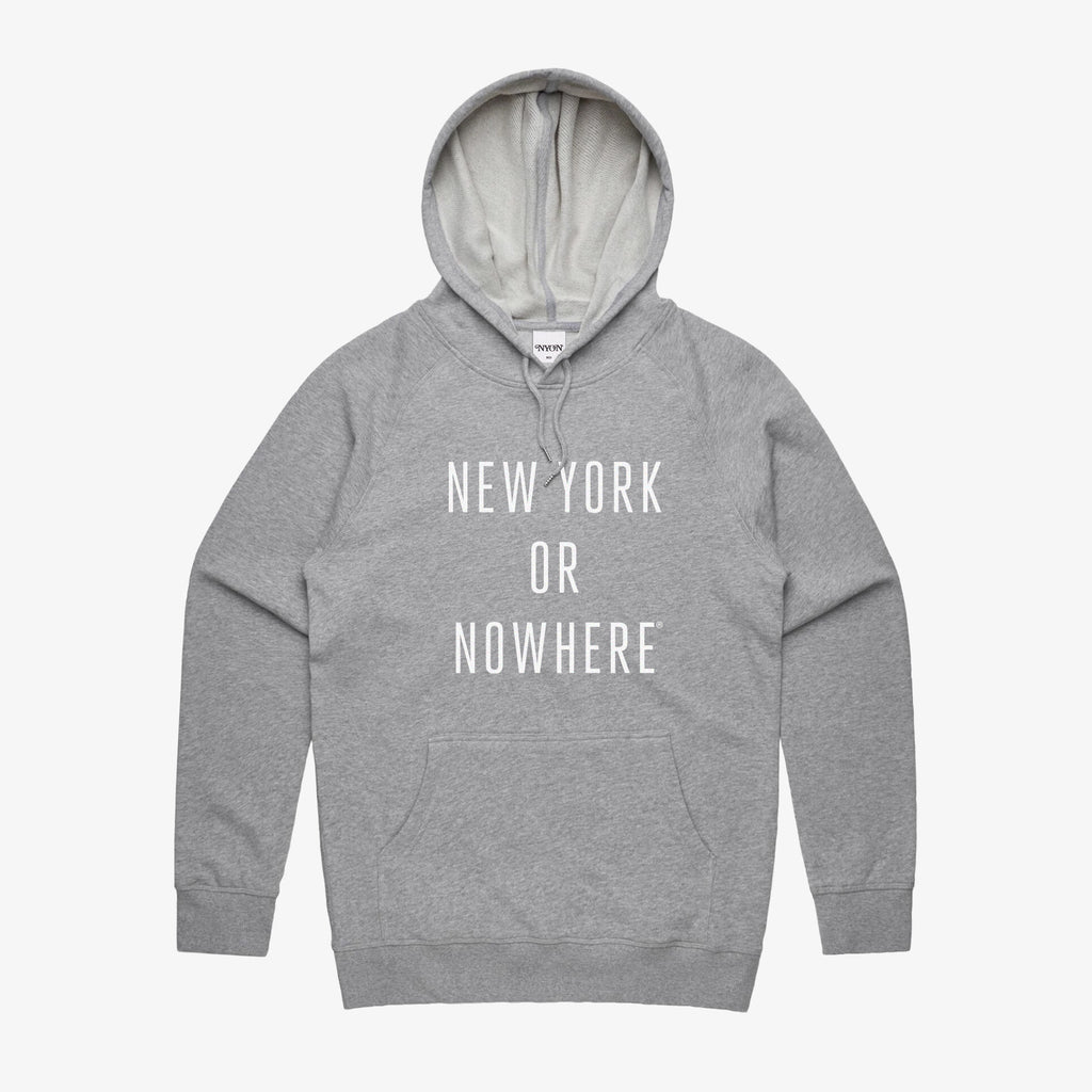"NYON® ""Classic"" Hoodie - Heather Grey/White - New York or Nowhere®"