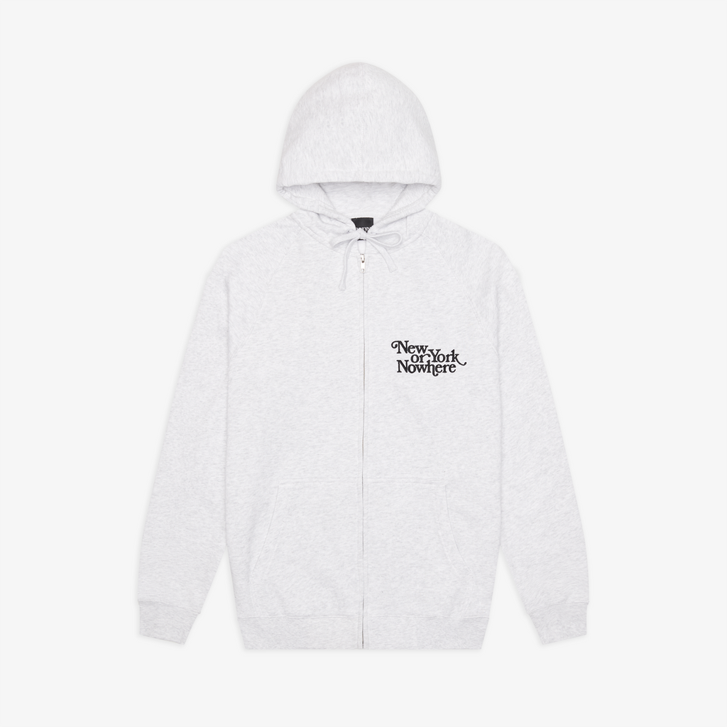 "NYON® ""Ludlow"" Zip Hoodie - White Heather - New York or Nowhere®"