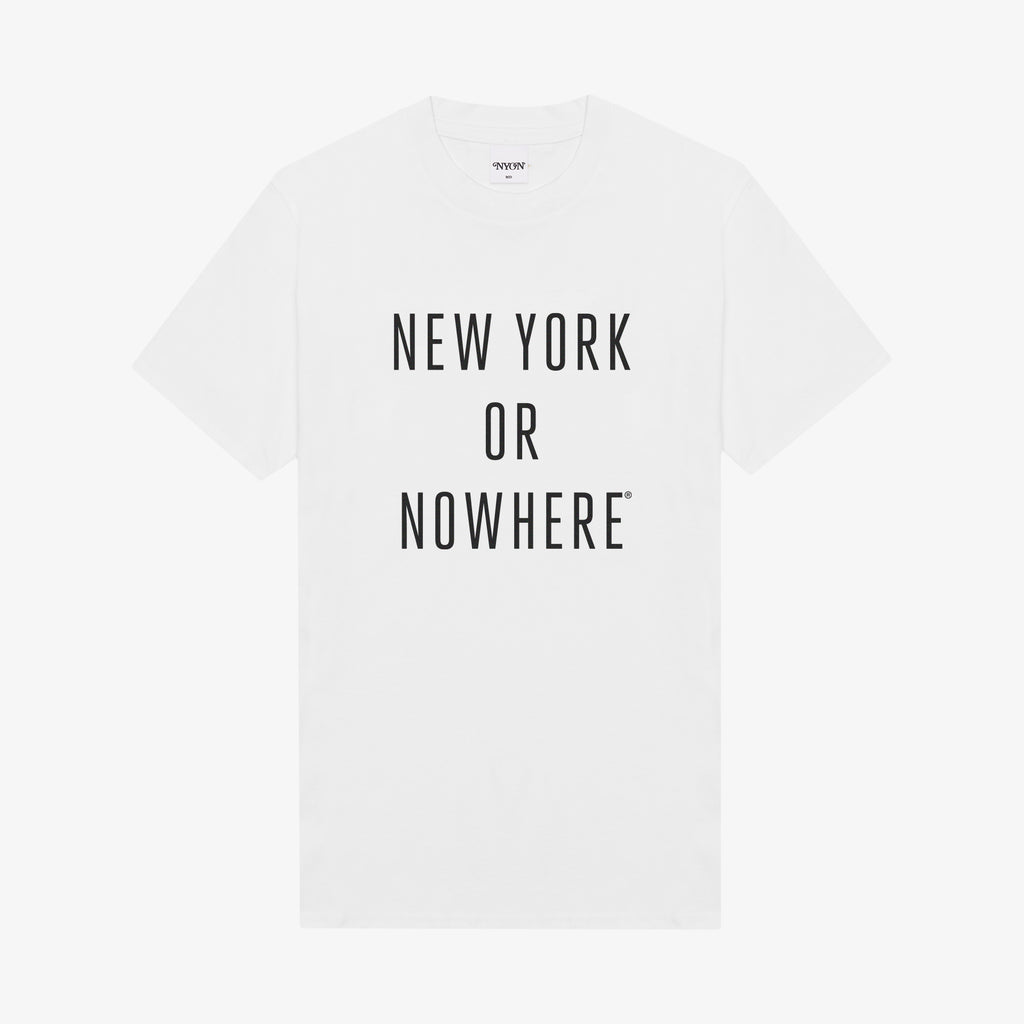 "NYON® ""Classic"" Tee - White/Black - New York or Nowhere®"