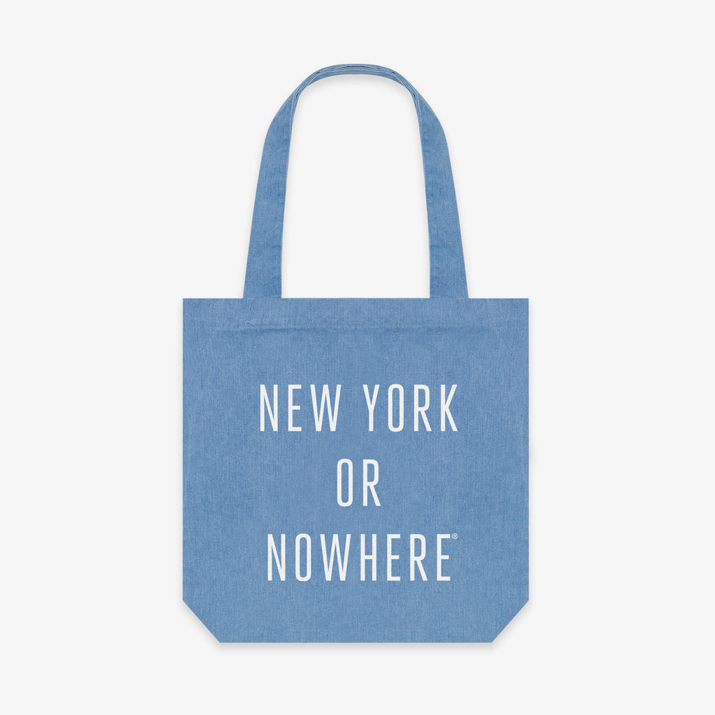 "NYON® ""Classic"" Tote - Denim/White - New York or Nowhere® - NYON® by Knowlita"