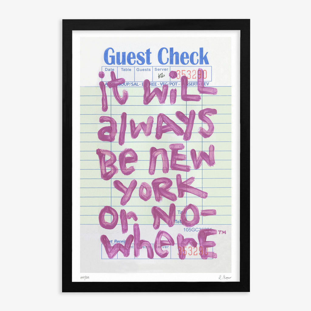 "NYON™ x LRS™ ""Guest Check"" Art Print: Rose - 24"" x 36"" [Limited Edition]"