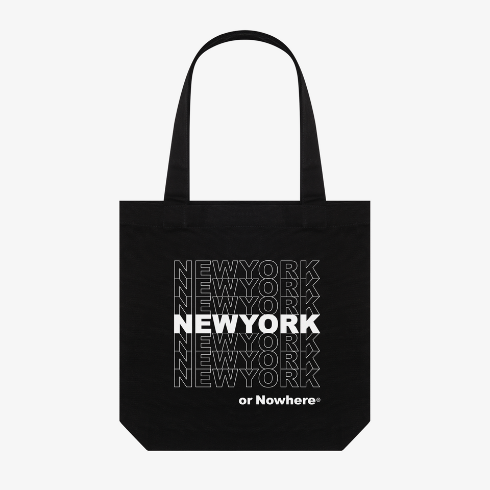 "NYON ""Bodega"" Tote - Black - New York or Nowhere® - NYON® by Knowlita"