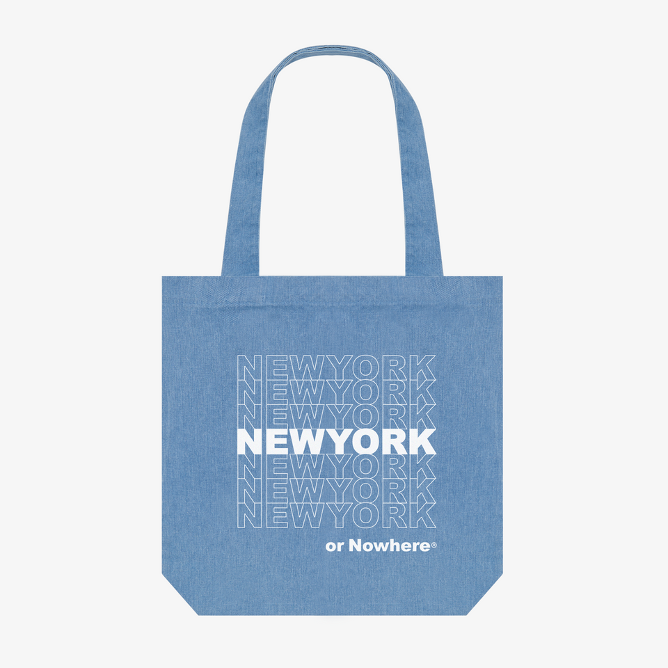 "NYON ""Bodega"" Tote - Denim - New York or Nowhere® - NYON® by Knowlita"