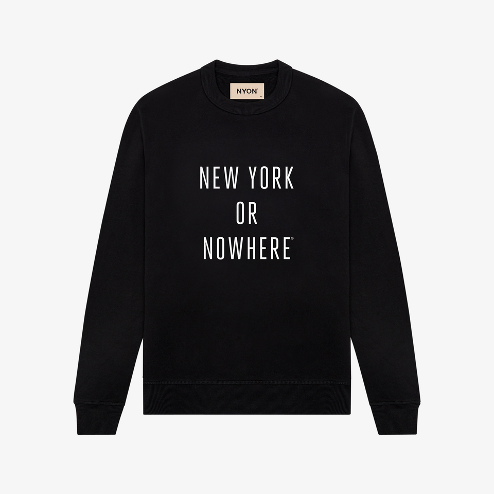 "NYON ""Classic"" Sweatshirt - Black - New York or Nowhere® - NYON® by Knowlita"