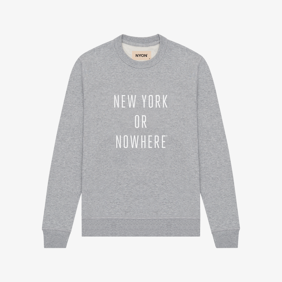 "NYON ""Classic"" Sweatshirt - White Heather - New York or Nowhere® - NYON® by Knowlita"
