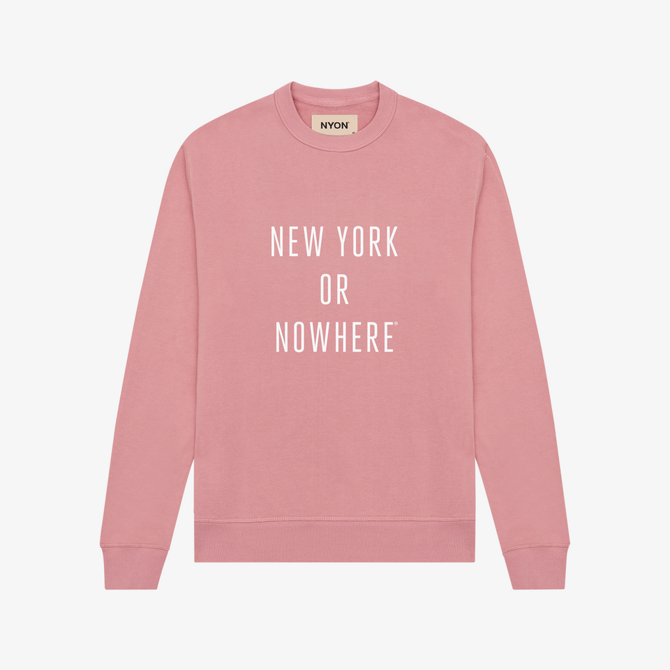 "NYON ""Classic"" Sweatshirt - Rose (PRE-ORDER) - New York or Nowhere® - NYON® by Knowlita"