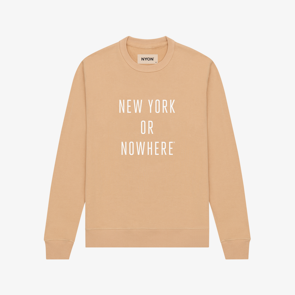 "NYON ""Classic"" Sweatshirt - Tan - New York or Nowhere® - NYON® by Knowlita"