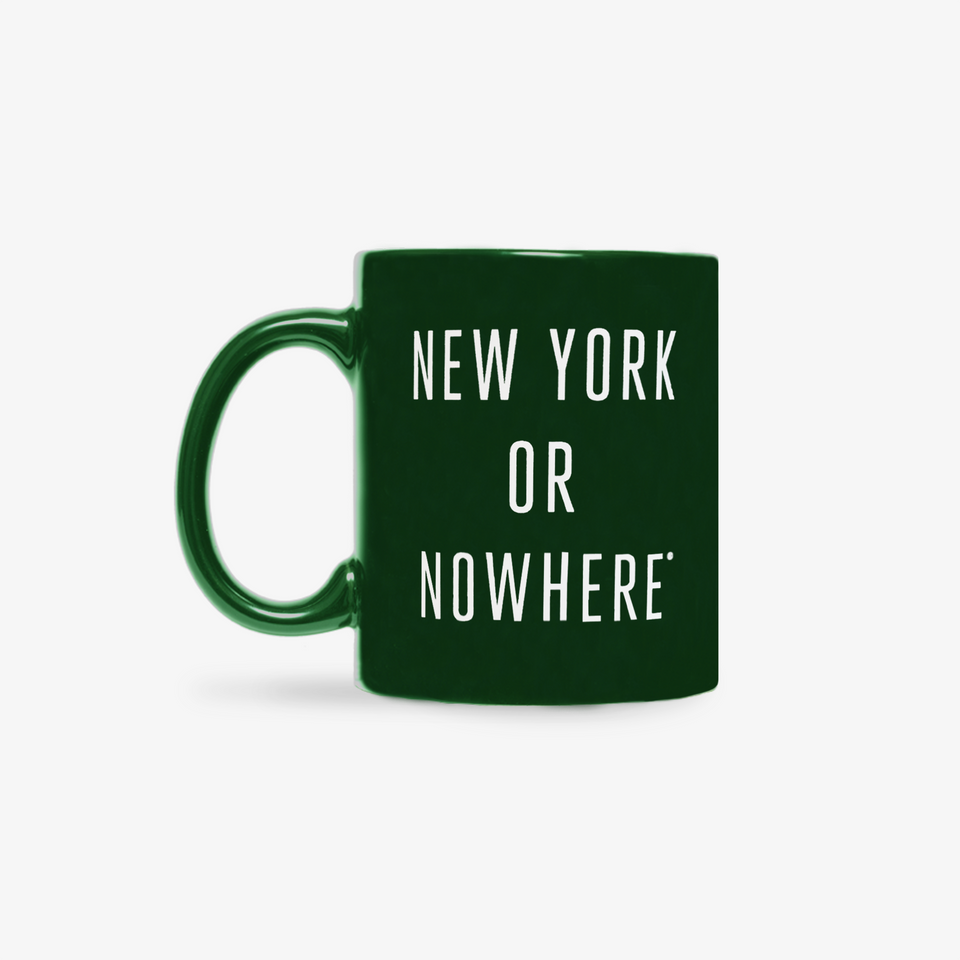 "NYON ""Classic"" Mug - Green - New York or Nowhere® - NYON® by Knowlita"