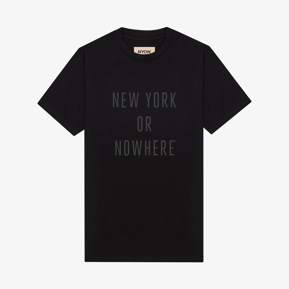"NYON ""Classic"" Tee - Black/Black - New York or Nowhere® - NYON® by Knowlita"