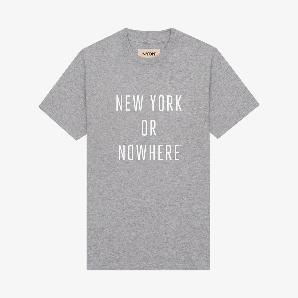"NYON ""Classic"" Tee - Grey - New York or Nowhere® - NYON® by Knowlita"
