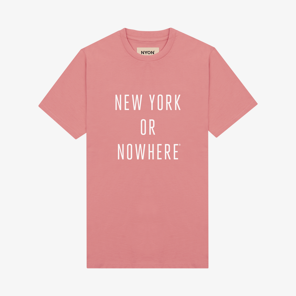 "NYON® ""Classic"" Tee - Rose - New York or Nowhere® - NYON® by Knowlita"