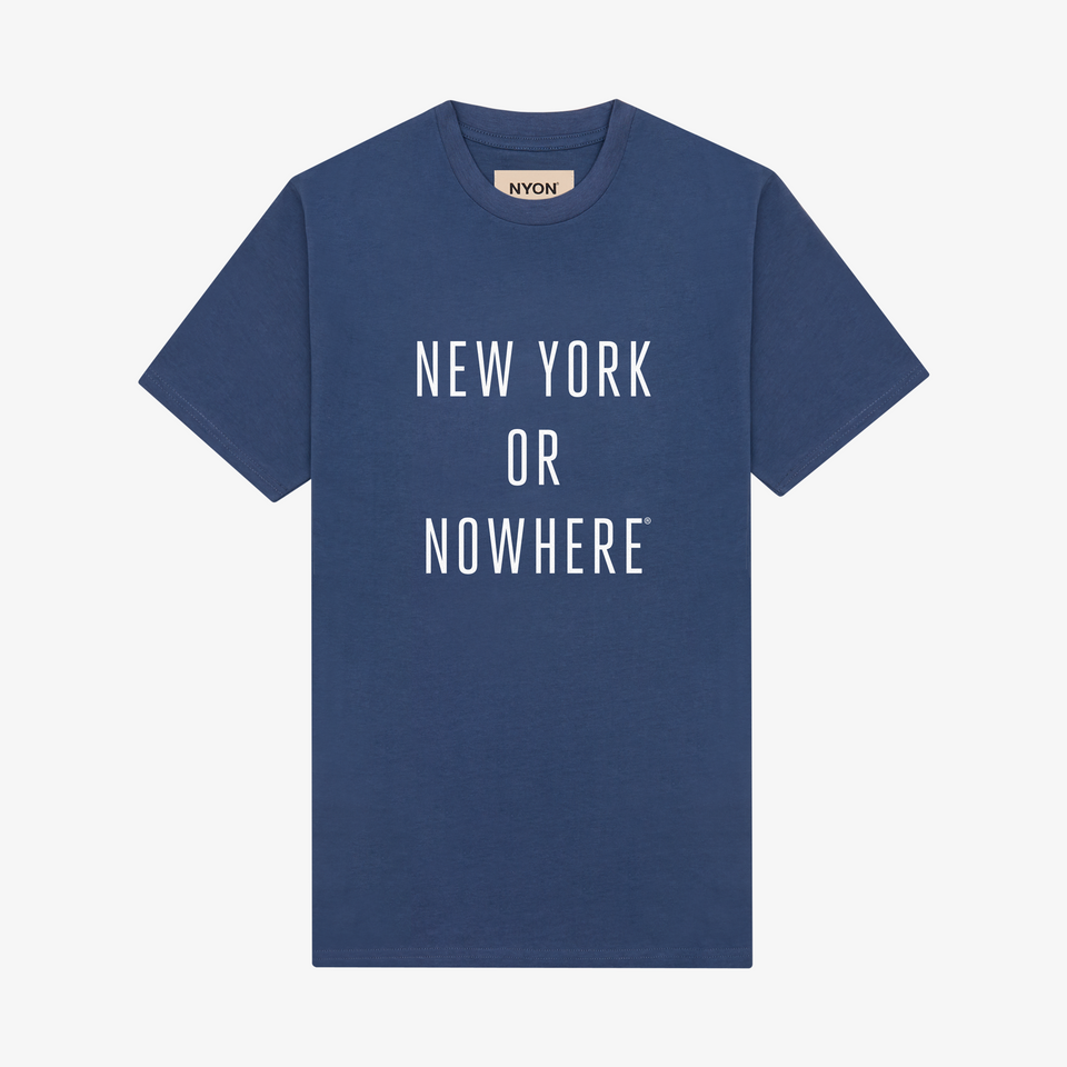 "NYON ""Classic"" Tee - Slate Blue - New York or Nowhere® - NYON® by Knowlita"