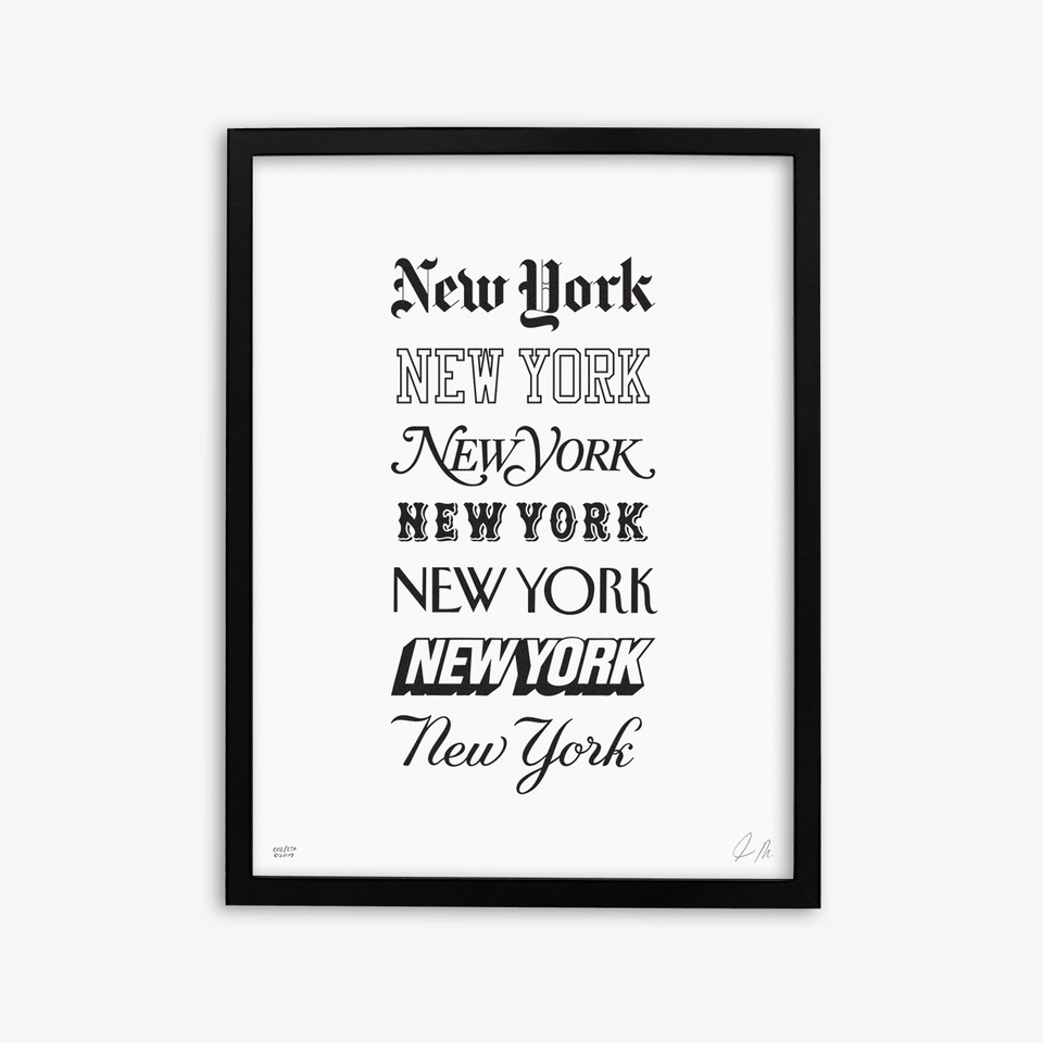 "NYON ""Icons"" Print - White/Black - New York or Nowhere® - NYON® by Knowlita"