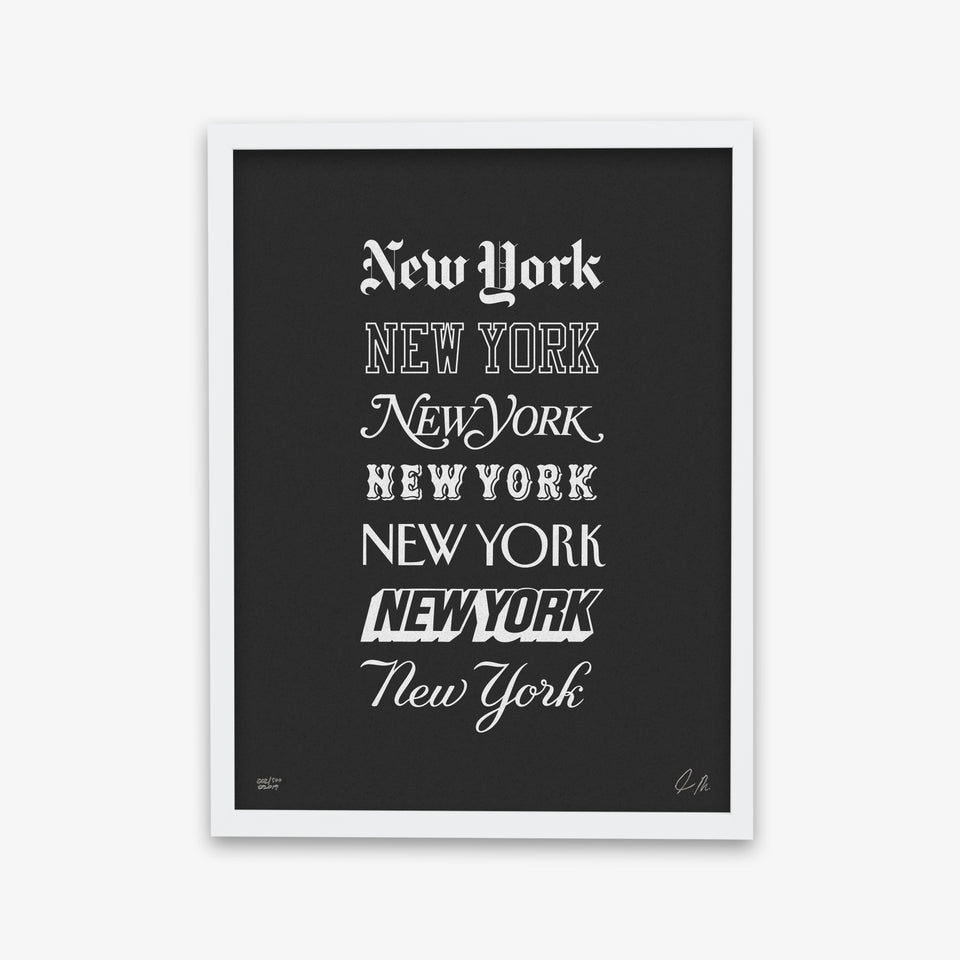 "NYON ""Icons"" Print - Black/White - New York or Nowhere® - NYON® by Knowlita"