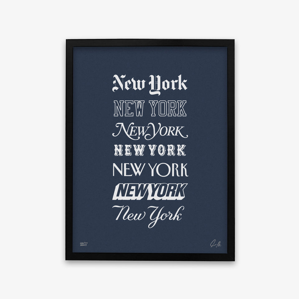 "NYON ""Icons"" Print - Navy/White - New York or Nowhere® - NYON® by Knowlita"
