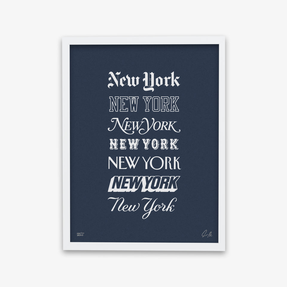 "NYON® ""Icons"" Print - Navy/White - New York or Nowhere® - NYON® by Knowlita"